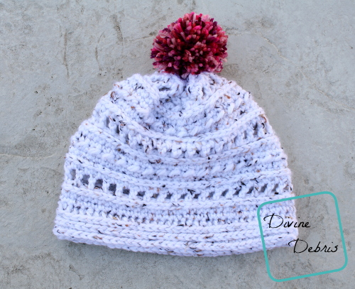 Squishy, Squishy Yarn! The Lindsay Beanie free crochet pattern