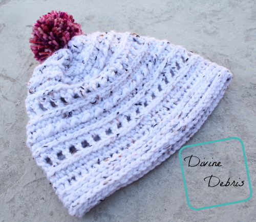 Lindsay Beanie free crochet pattern by DivineDebris.com