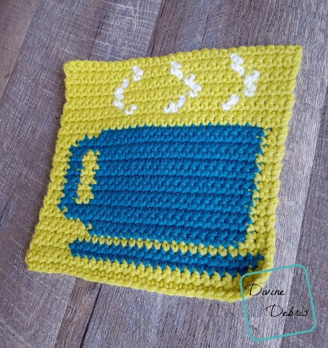"""8"""" Tapestry Cup of Cocoa Afghan Square free crochet pattern by DivineDebris.com"""