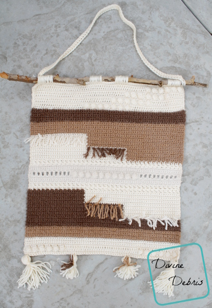 Hygge Wall Hanging free crochet pattern by DivineDebris.com