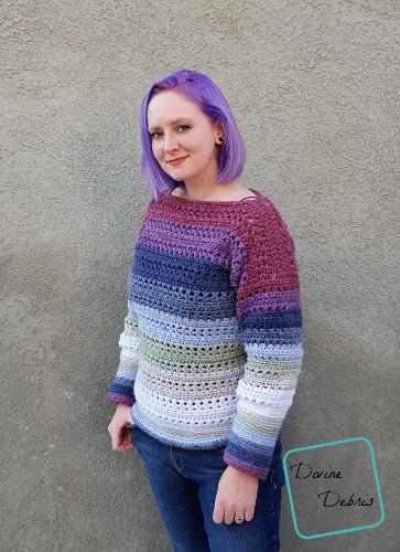 Sherbet Sweater free crochet pattern by DivineDebris.com