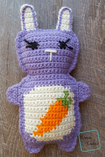 Carrot Belly Bunny Ami free crochet pattern by DivineDebris.com