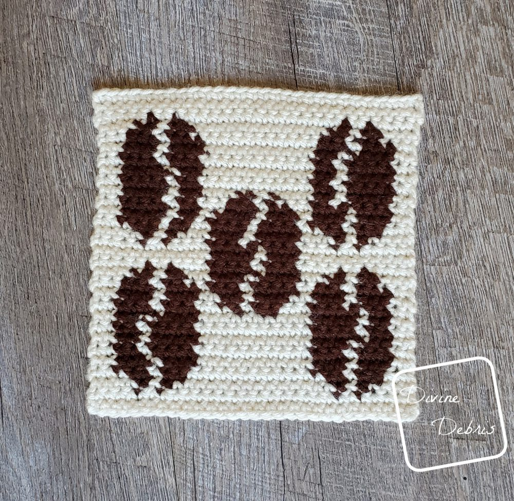 Coffee Tapestry Square Afghan Project – Square 8