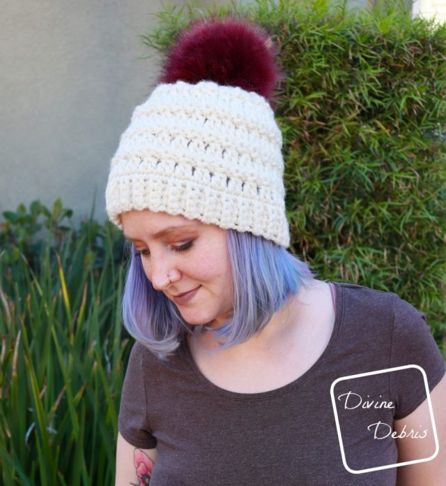 Angelica Beanie free crochet pattern by DivineDebris.com
