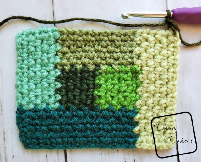 Linen Log Cabin Square: Where to start section 7 close up