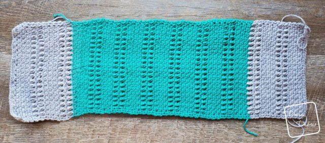 The Whitney Cowl flat before seaming