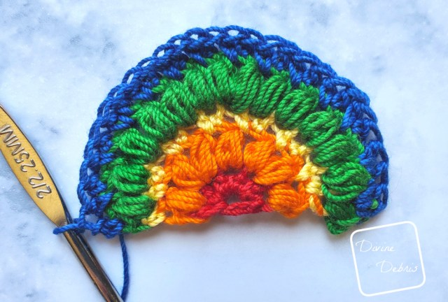 Puff Rainbow Earrings free crochet pattern by DivineDebris.com