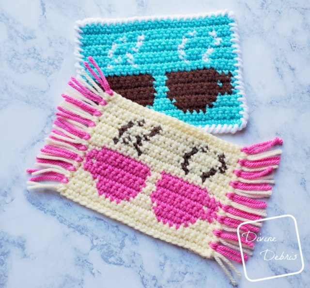 Cute Cups Mug Rug free crochet pattern by DivineDebris.com