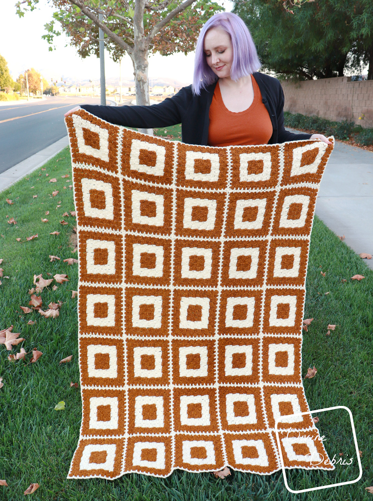 It's Finally Here! The Concentric Squares Throw Blanket Pattern