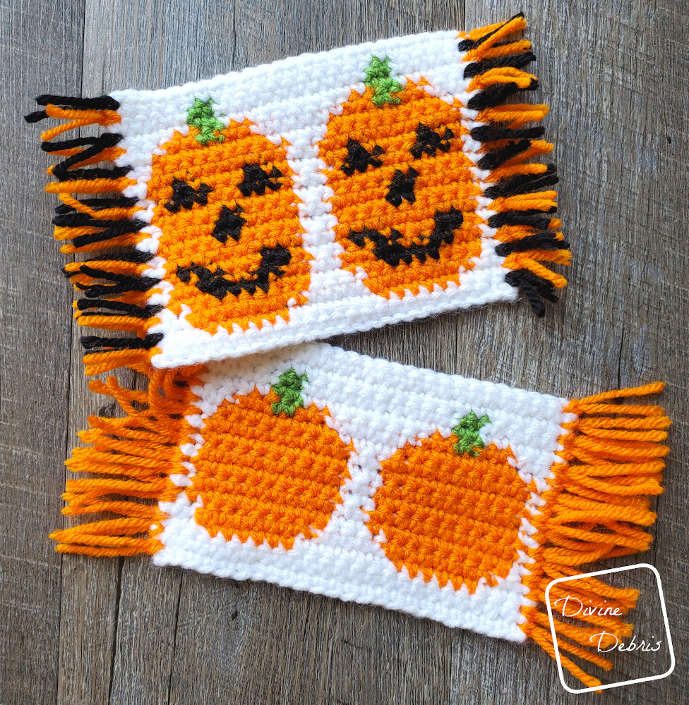 Fall into Pumpkins! With the Cute Pumpkins Mug Rugs Free Crochet Patterns