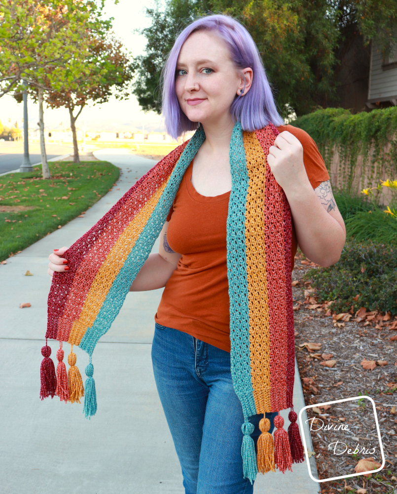 Get Cozy for Fall with the Dana Scarf free crochet pattern