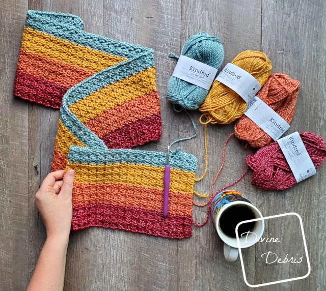 Dana Scarf free crochet pattern by DivineDebris.com