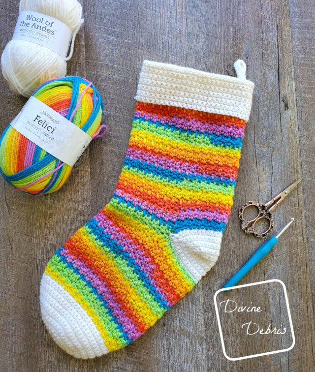 Kelsey Stocking free crochet pattern by DivineDebris.com