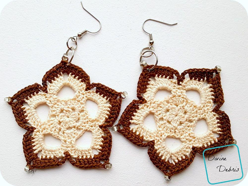 Mini Mandala Earrings, A Free Crochet Pattern