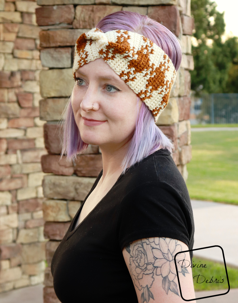 Make It Fashionable with the Pretty in Gingham Headband Pattern