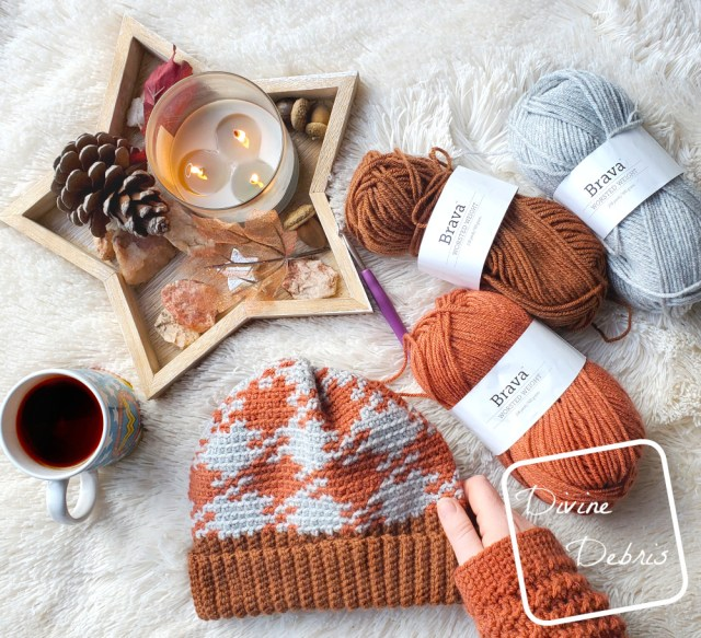 Pretty in Gingham Beanie free crochet pattern by DivineDebris.com