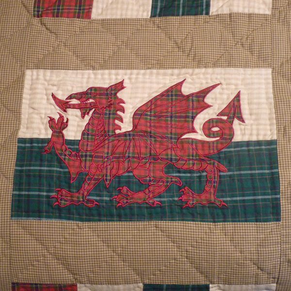 Welsh Dragon Patchwork Quilt