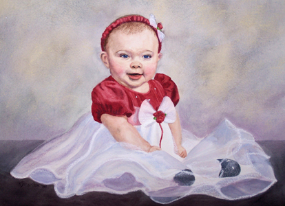 watercolor of baby