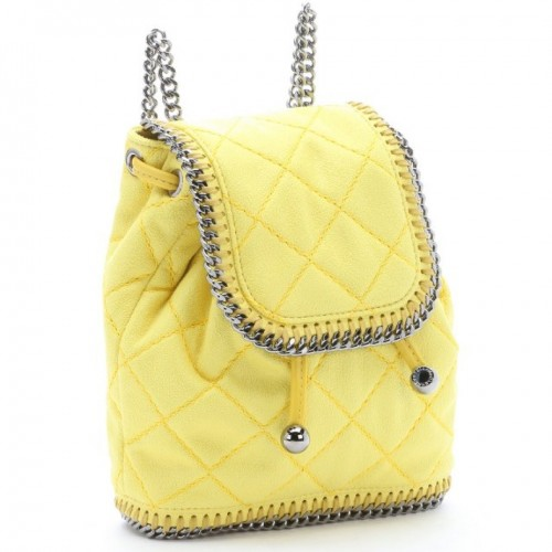 Bluefly Stella McCartney Yellow Quilted Backpack