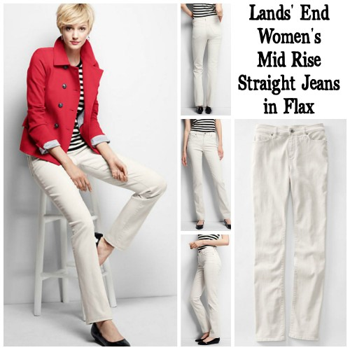 Lands' End Mid Rise Jeans and Jacket