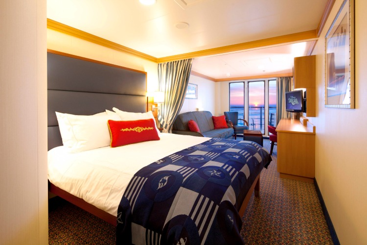 Disney Dream Cruise Ship Cabins Deluxe Family Oceanview Stateroom with Verandah