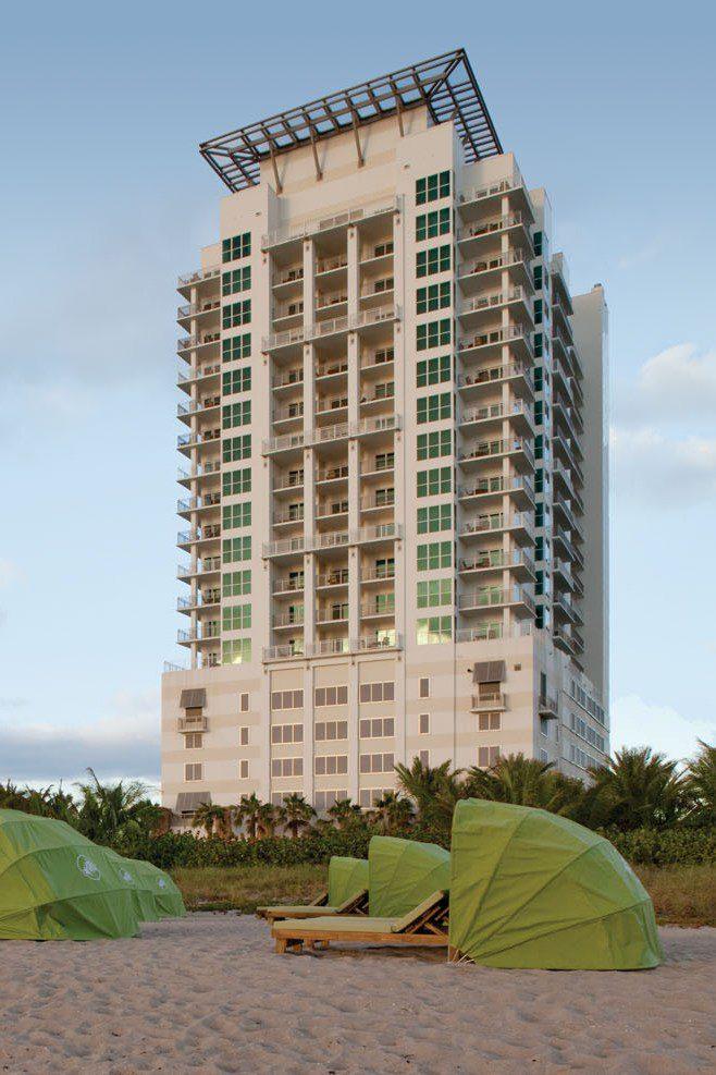 Marriott's Oceana Palms Exterior from beach