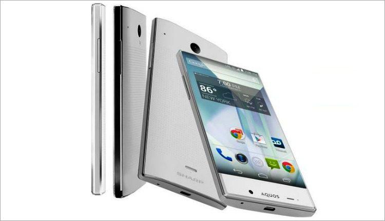 Sharp Aquos Silver Smartphone 4