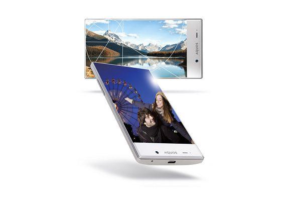 Sharp Aquos Silver Smartphone 6