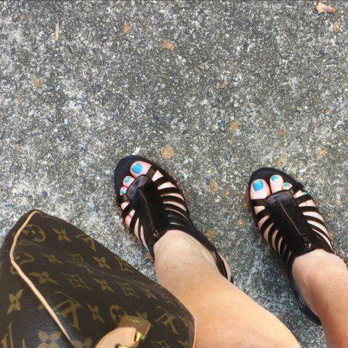 Famous Footwear Aerosoles Black Pearl Plush Wedge Heels