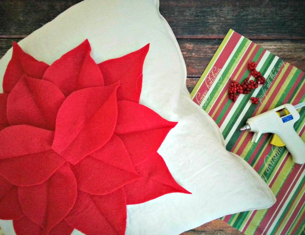 Poinsettia Pillow 3