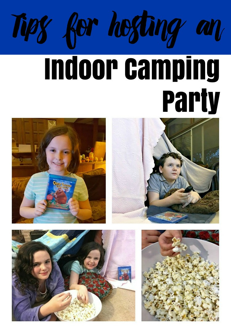 Indoor Camping Party Open Season Scared Silly