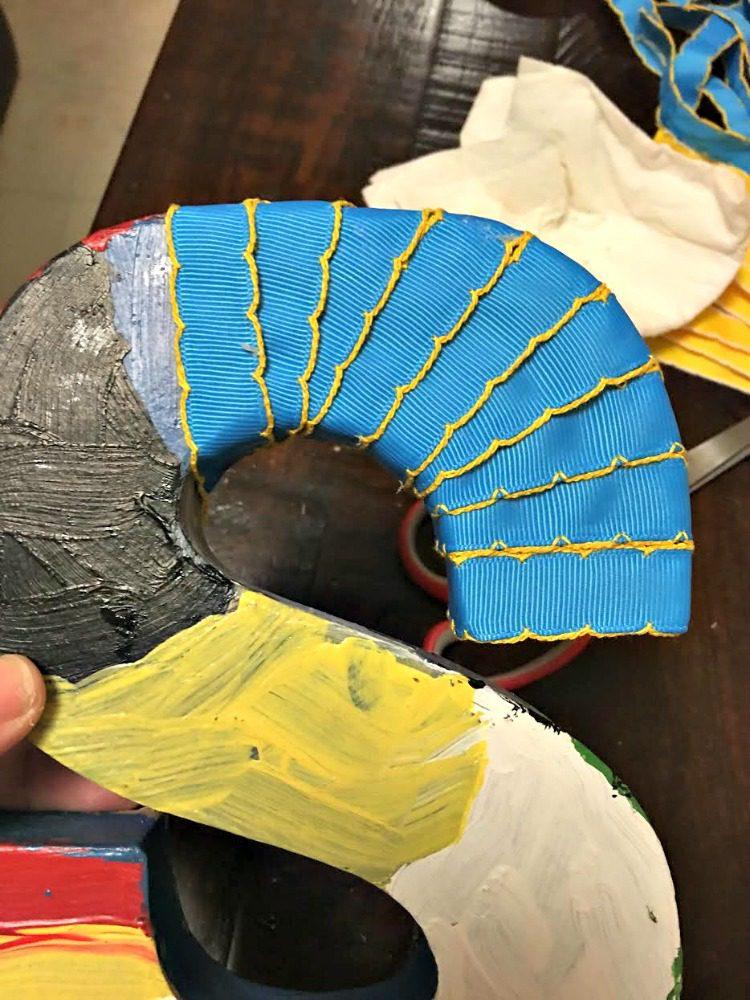 DIY Scrap Ribbon Monogram Initial Craft Waverly Inspirations