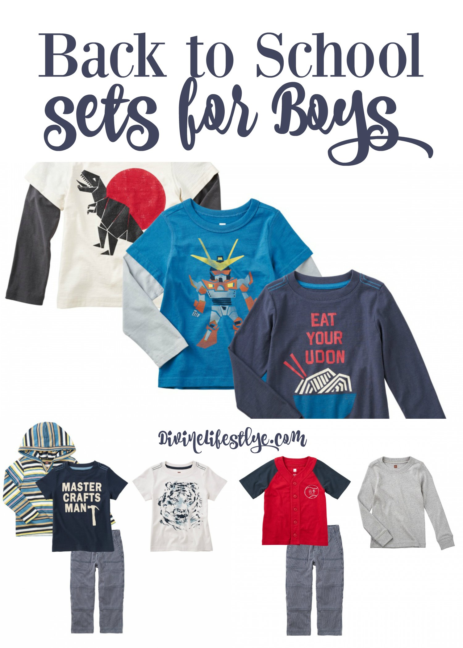 Tea Collection Back to School Sets for Boys