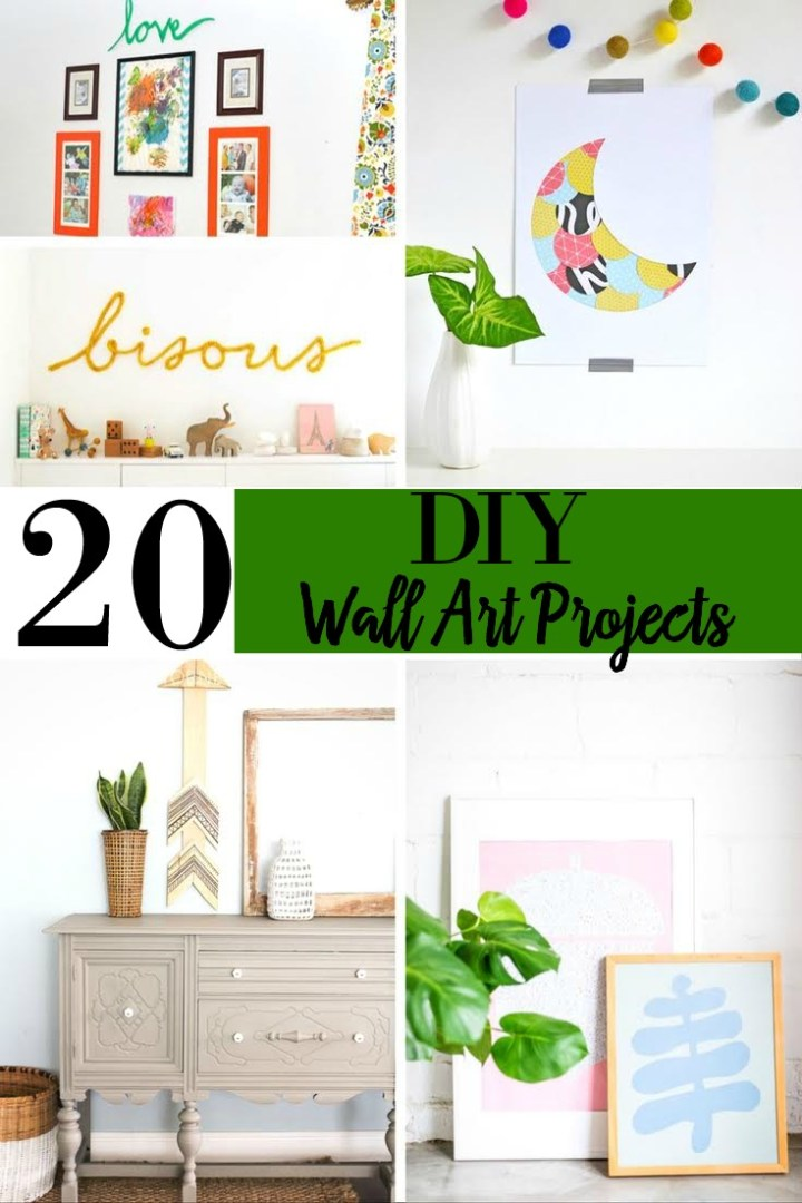 20 Elegant DIY Wall Art Projects