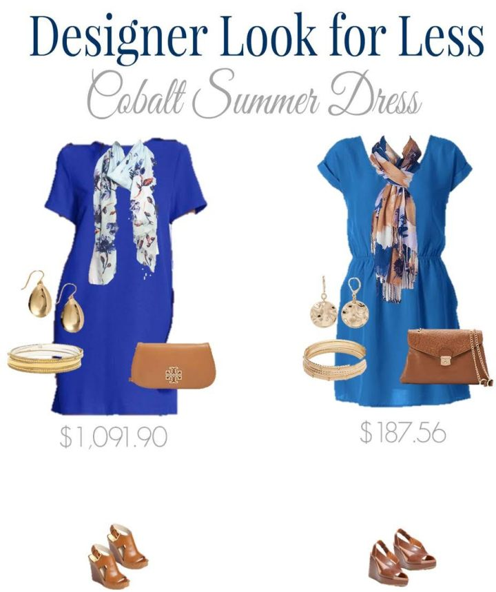 Designer Look and Designer Look for Less Cobalt Dress
