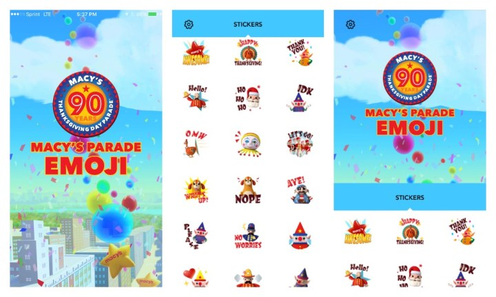 Macy's Thanksgiving Day Parade Time Traveler and Emojis Apps
