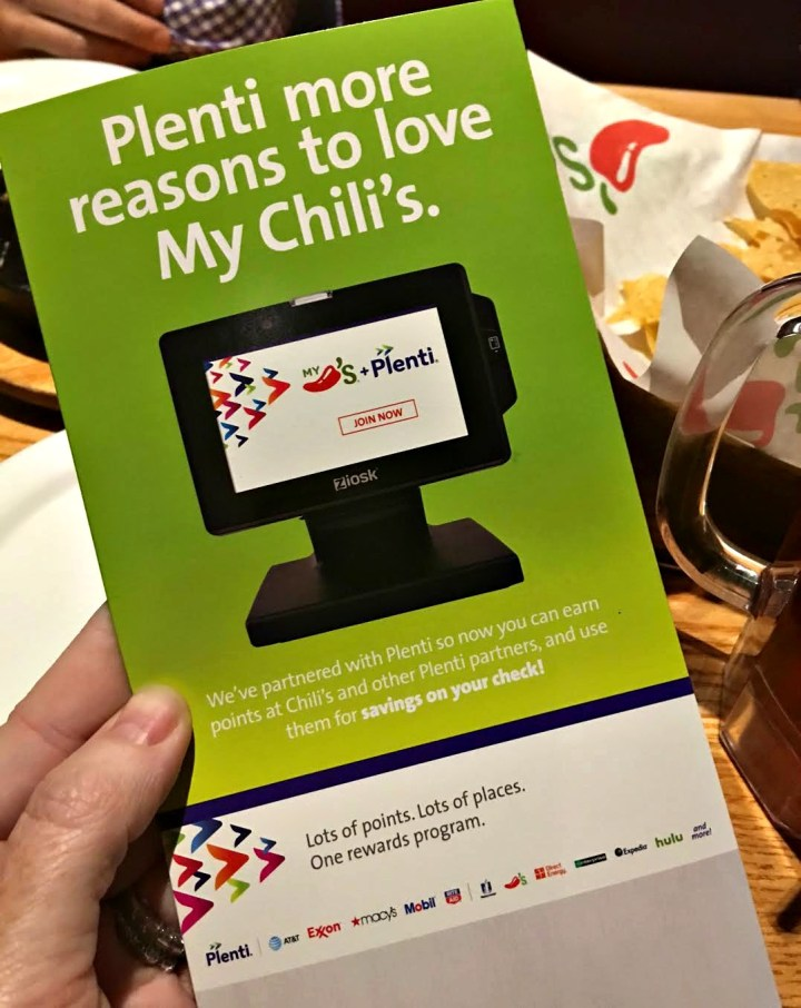 Plenti and Chili's - Get points for eating out