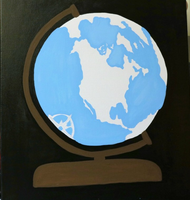 DIY Canvas Globe Painting