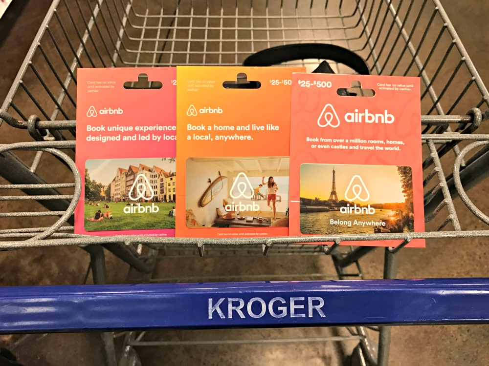 a Kroger Digital Coupon for $10 off $100 Airbnb gift card