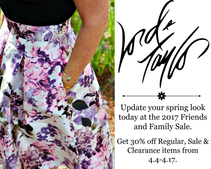 Lord & Taylor 2017 Friends and Family Sale