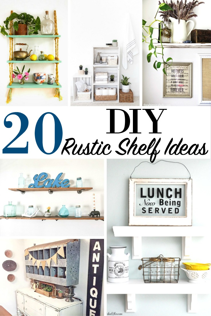 20 DIY Rustic Shelf Ideas