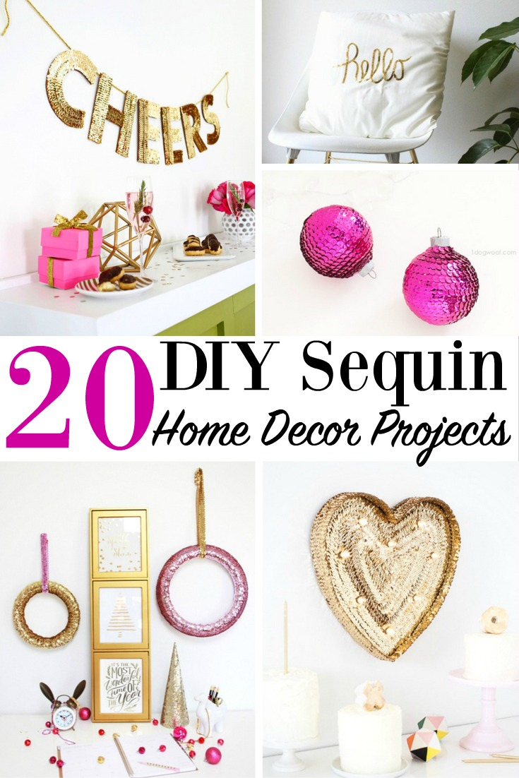 20 DIY Sequin Home Decor Projects