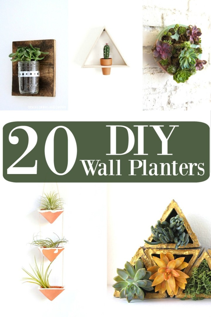 20 DIY Wall Planters