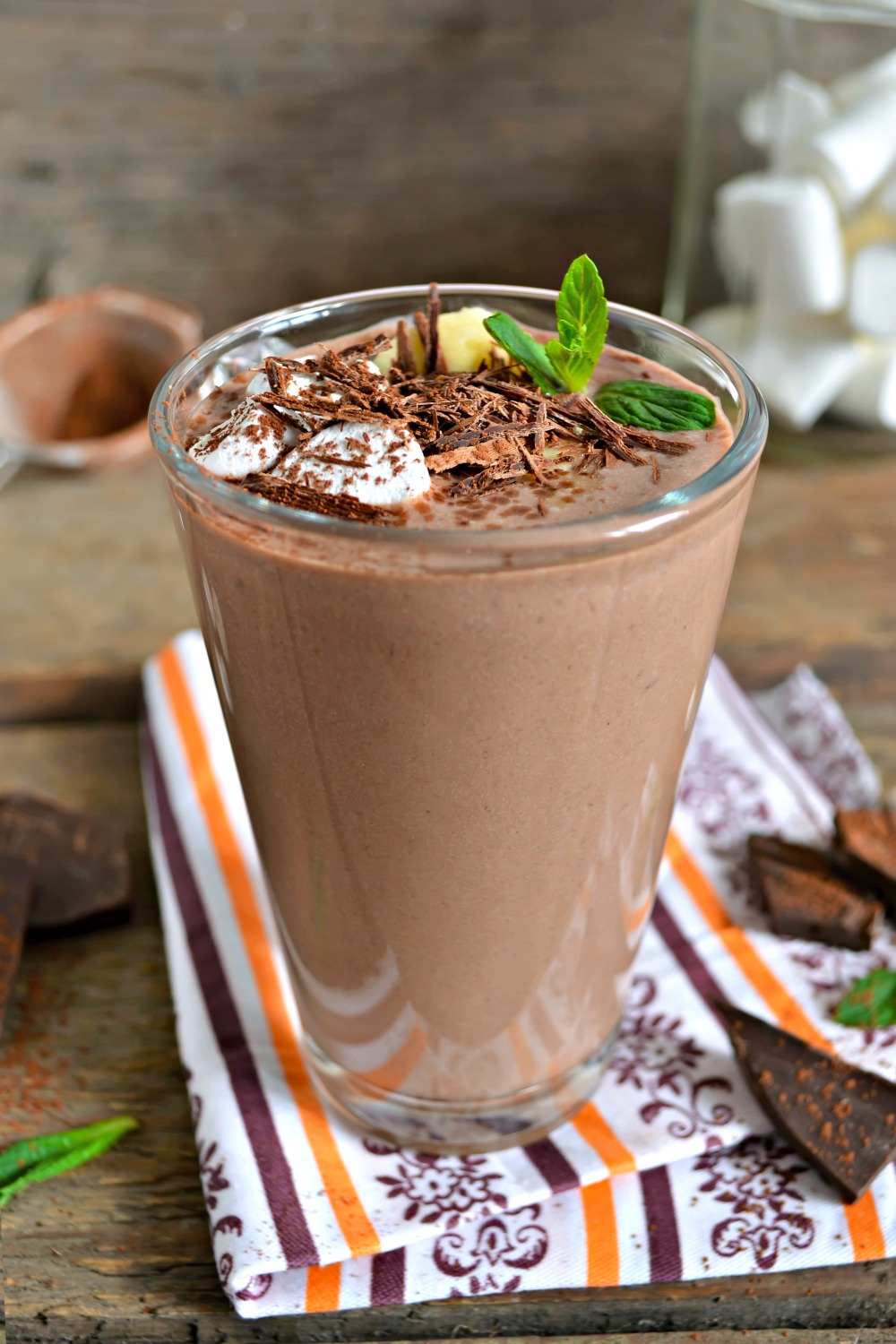 Chocolate Peanut Butter Protein Smoothie Recipe #TheDayIsYours