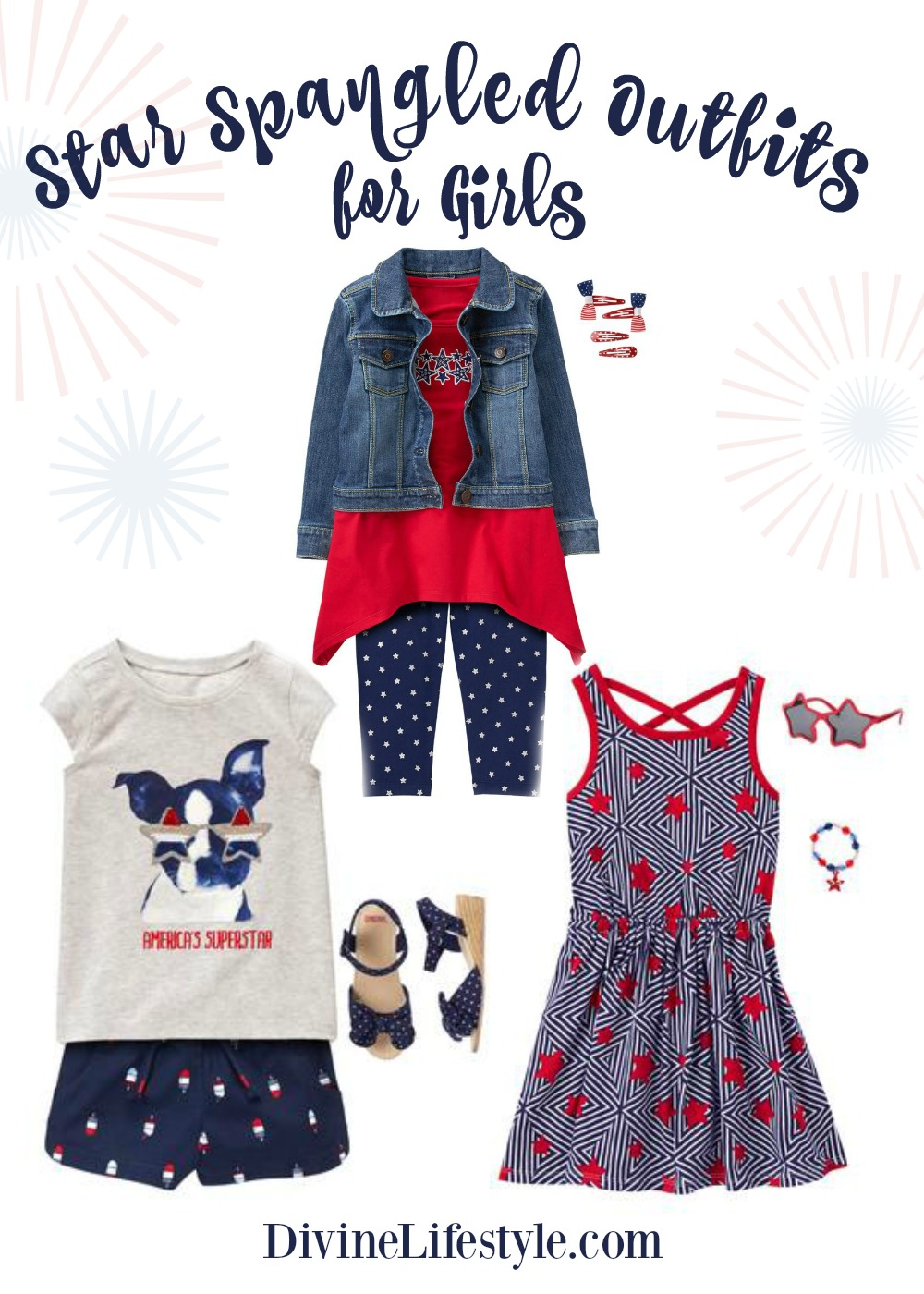 Star Spangled Outfits for Girls