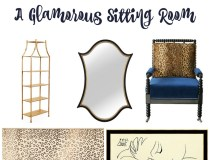 Go Glam with this Fashionable Sitting Room