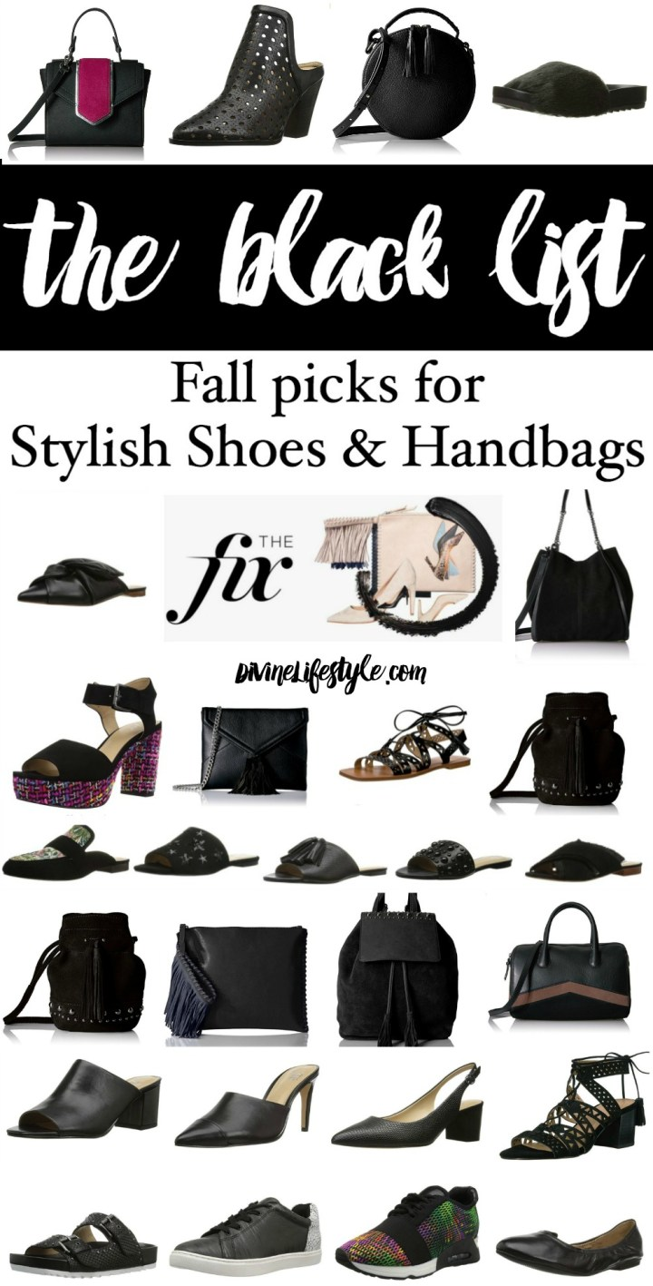 The Black List | Fall Picks for Stylish Shoes and Handbags in Black from The Fix