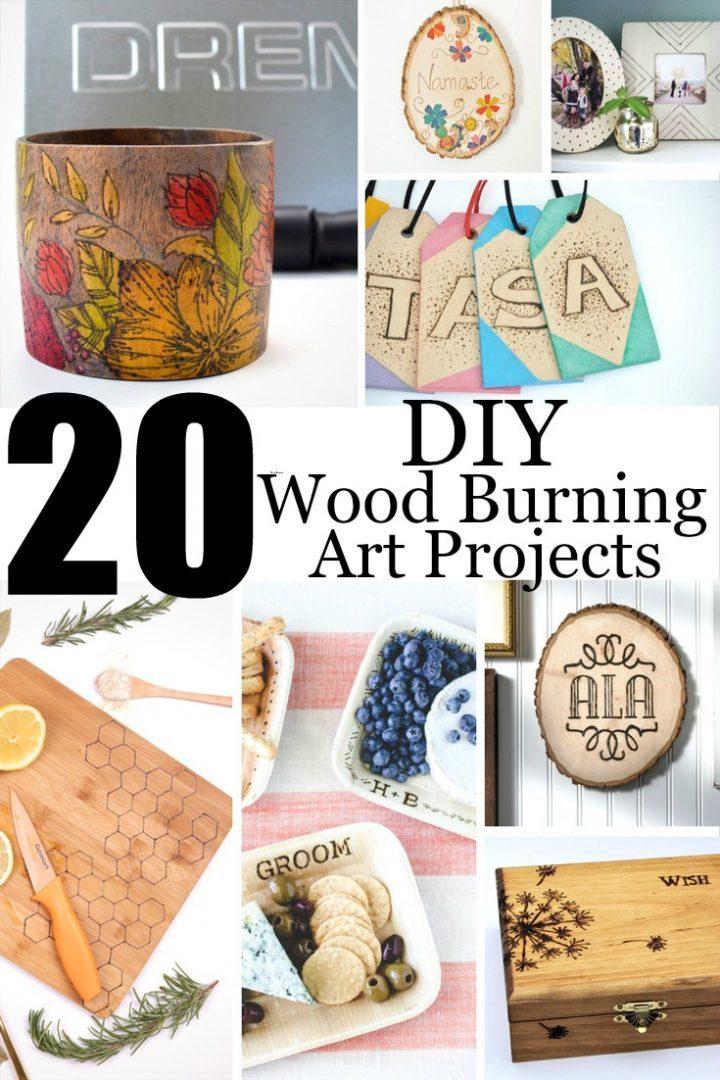 Intro to Wood Burning | 20 DIY Wood Burning Art Projects