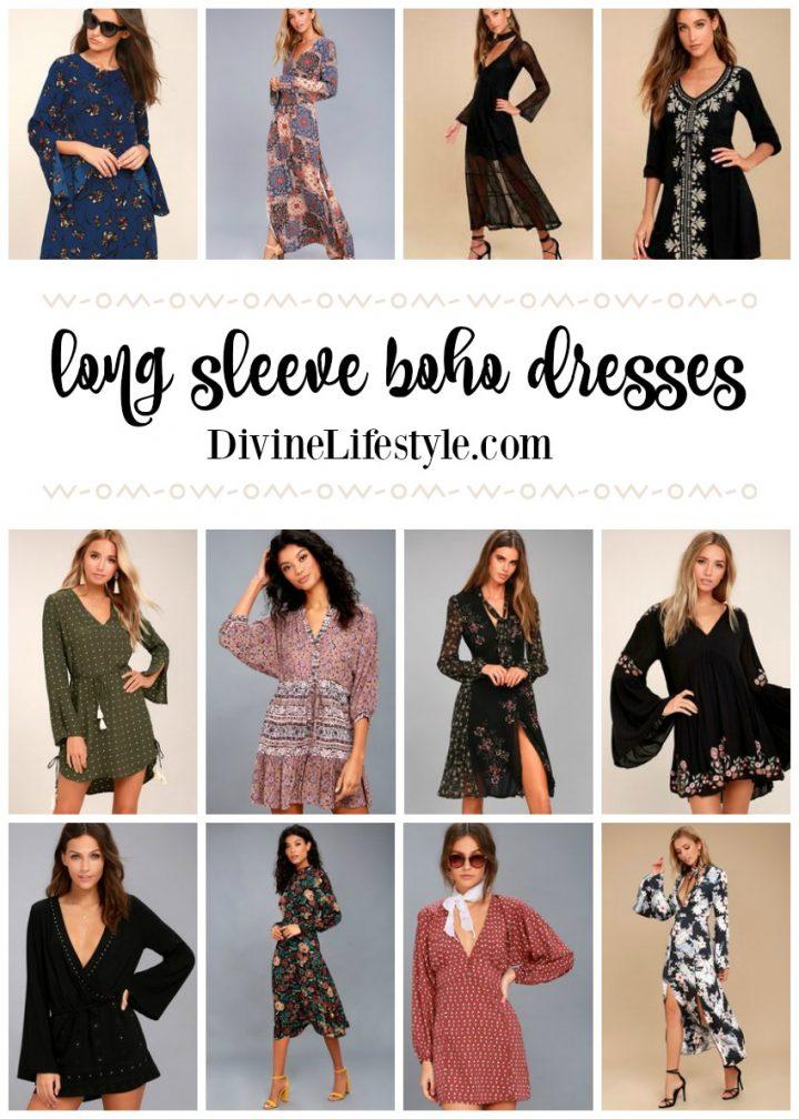 Long Sleeve Boho Dresses