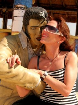 Divine Light Vibrations, Divine Soul Glenn Younger author and spiritual coach with Elvis Statue